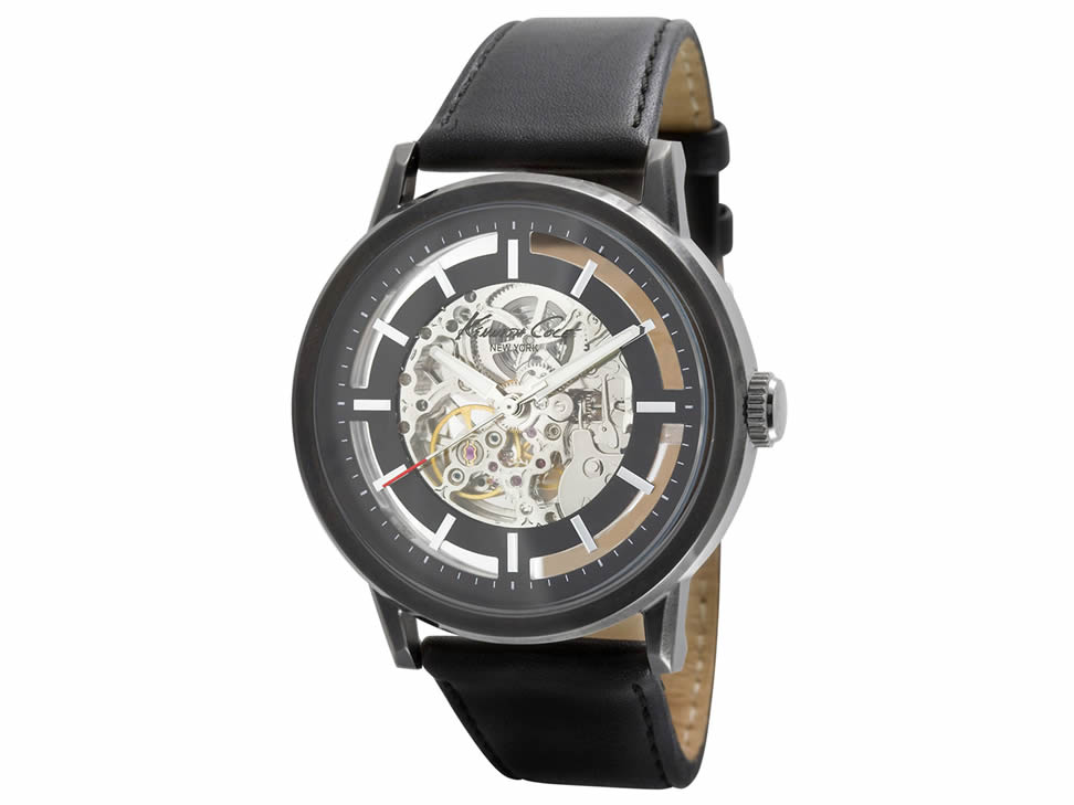 Kenneth Cole Automatics KC1632 Reloj para Caballero Color Negro