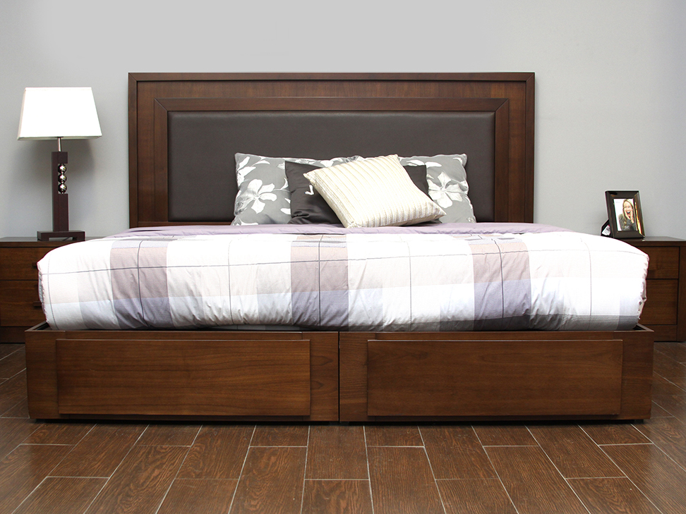 Muebles para cama king 20170830110320 for Cama queen size con cajones