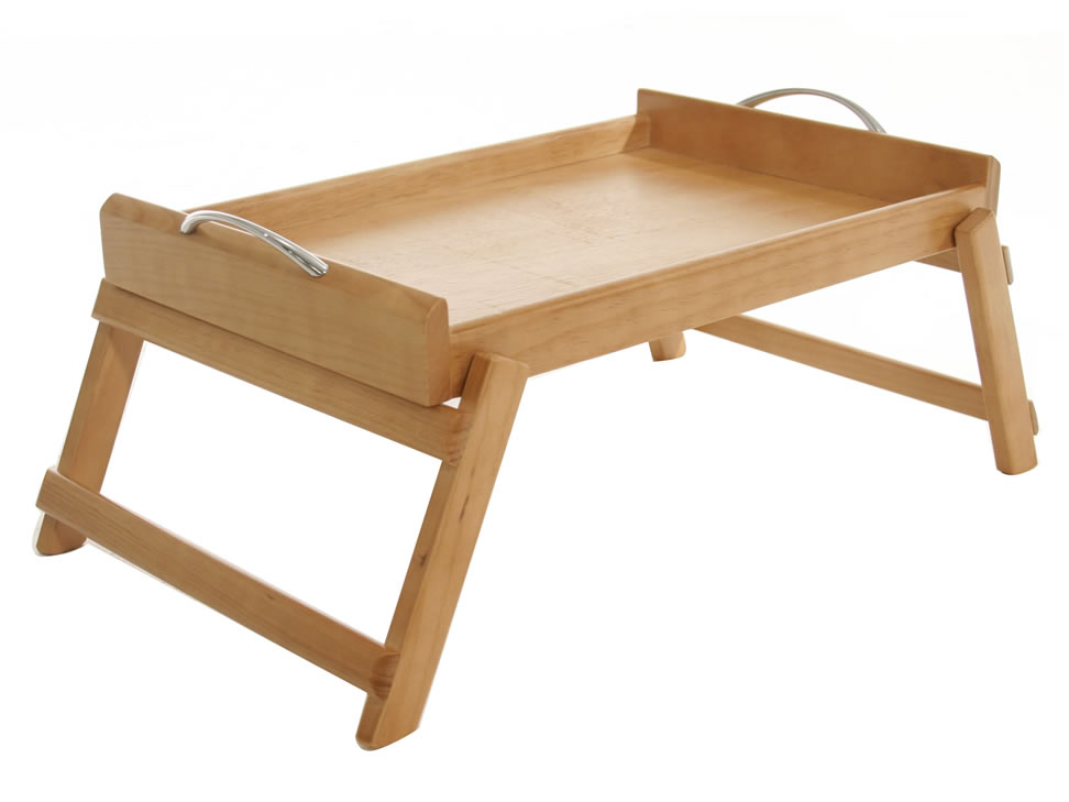 Haus mesa rectangular para cama natural - Mesa para la cama ikea ...